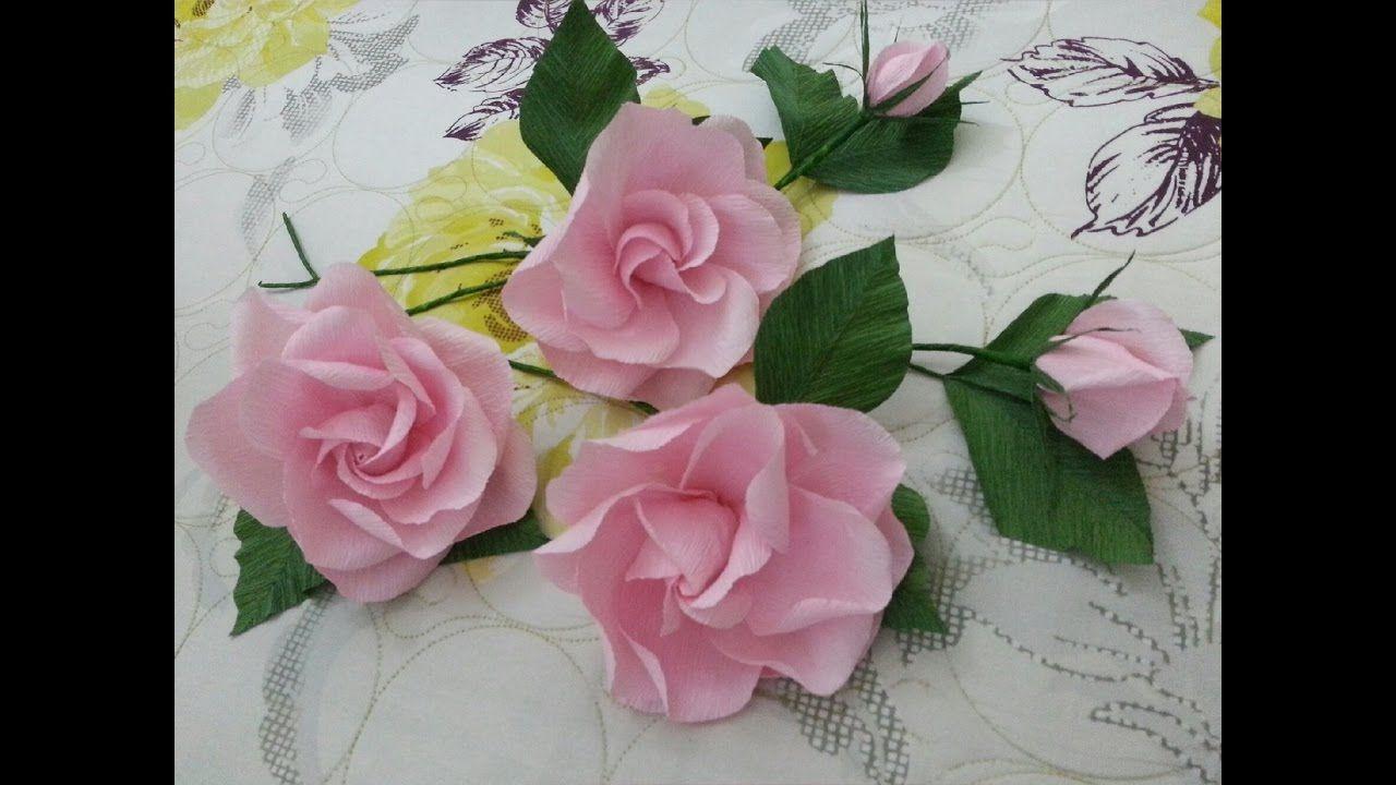 How To Make Paper Flower Craft Tutorial Flores De Papel