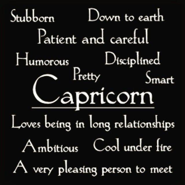 Characteristics of capricorns