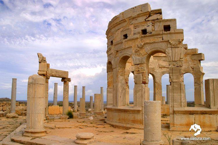 مدينة لبدة في ليبيا مدرجة على لائحة التراث العالمي لليونسكو كانت هذه المدينة من المدن الهامة في الامبراطورية الروماني Imperio Romano Arquitectura Romana Roma