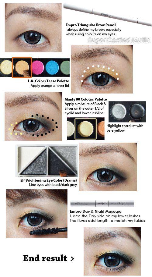 Orange Grey Eyes Make Your Eyes Or Lips Pop Pinterest Gray
