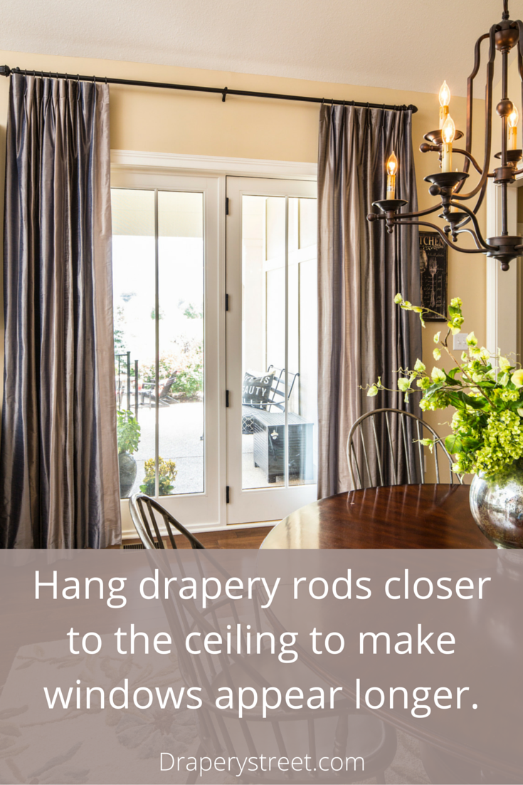 How To Properly Hang A Rod For Custom Drapes Custom Drapes