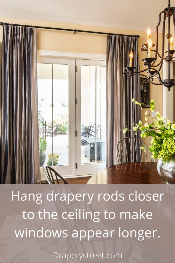 How To Properly Hang A Rod For Custom Drapes Custom Drapes
