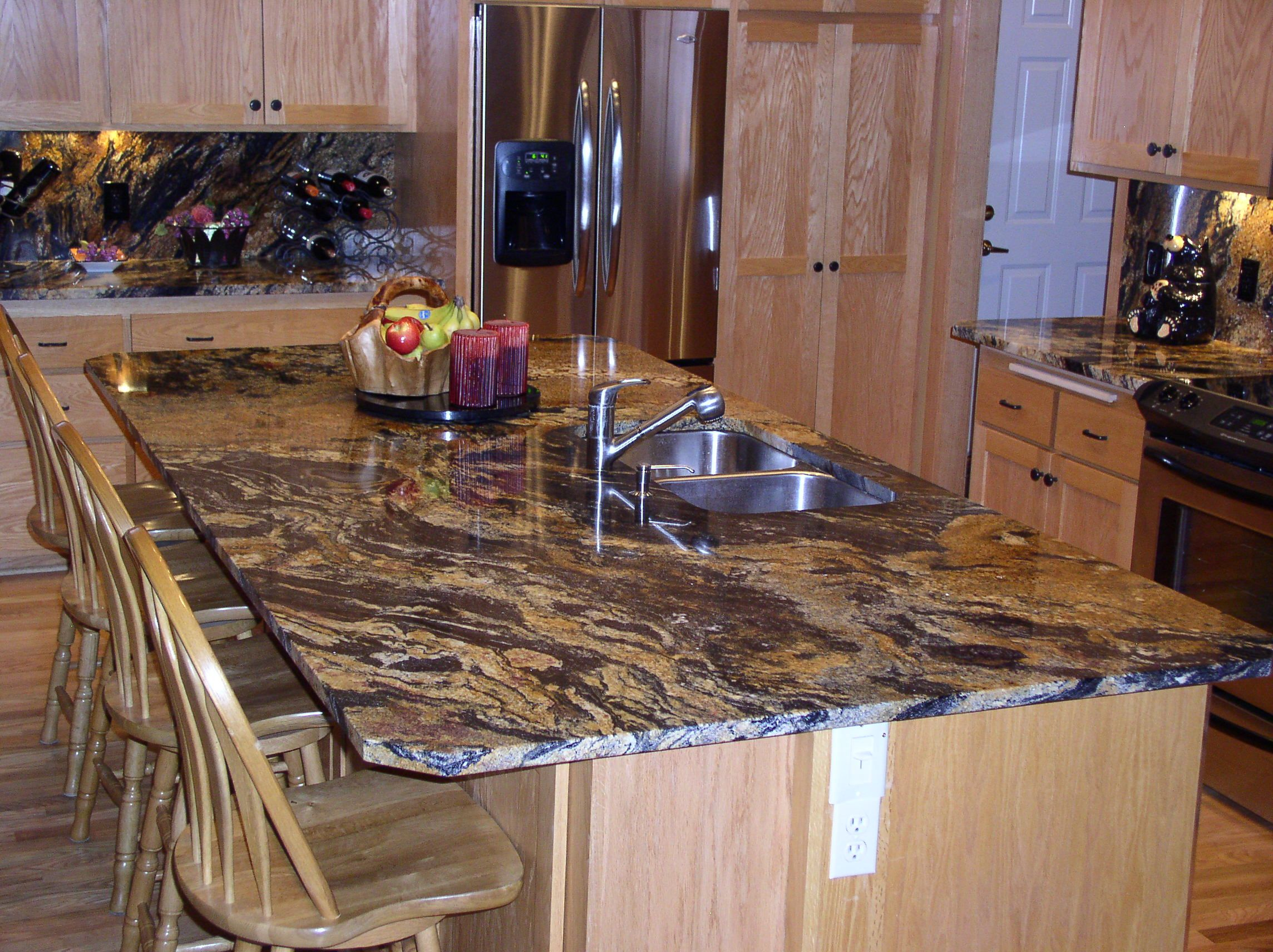 Sedna Granite Example With Out Cabinet Colors Kitchen Island