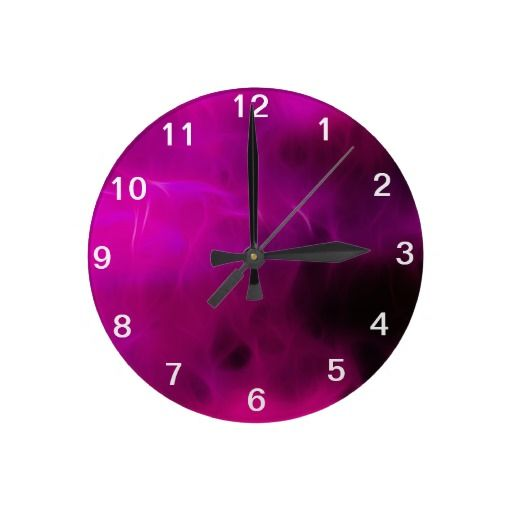 Pink Modern Design Clock...Art Created By Melinda Firestone-White ALL RIGHTS RESERVED, COPYRIGHT PROTECTED