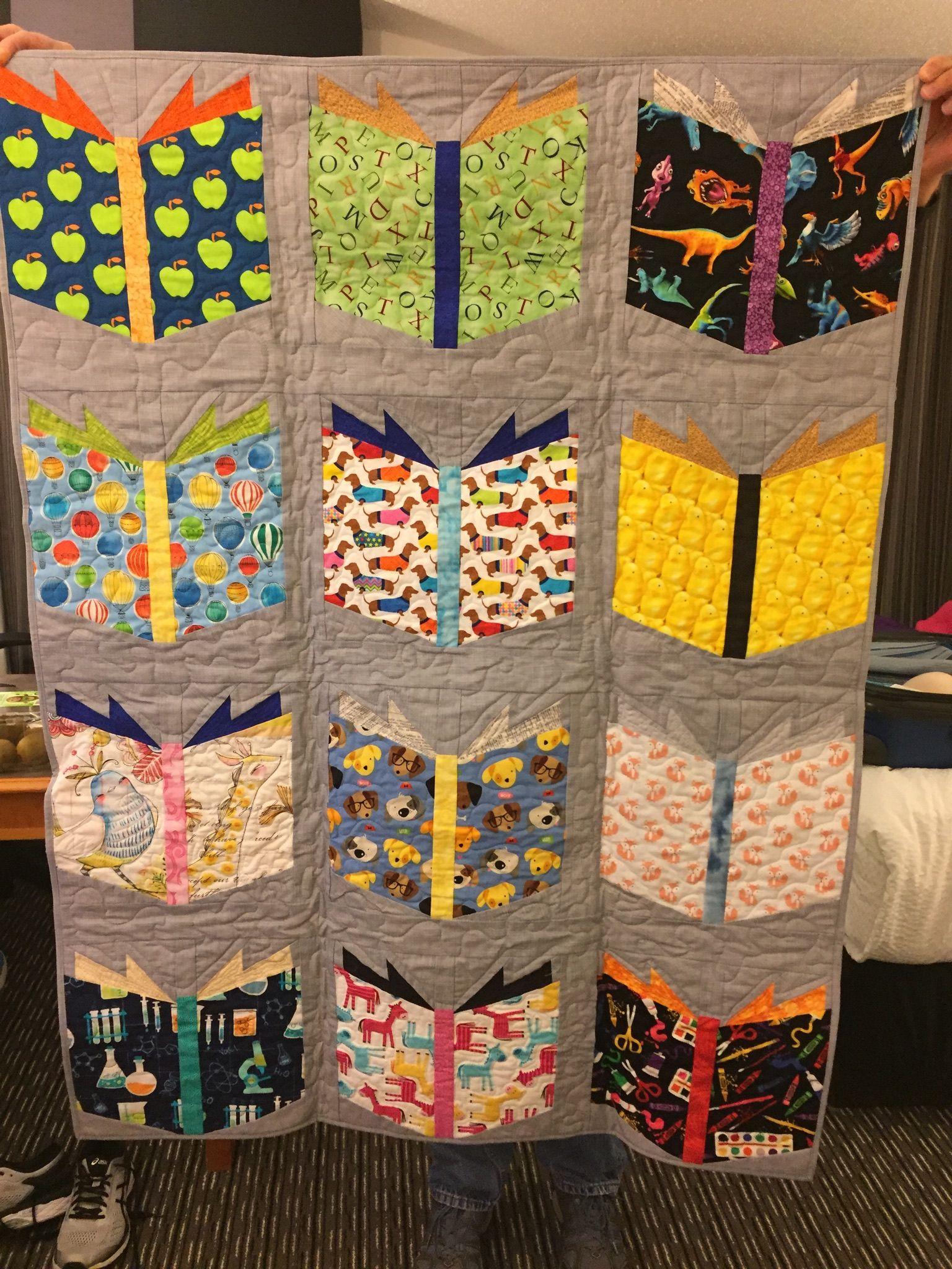 Book Nerd Baby Quilt Book Quilt Quilts Book Nerd