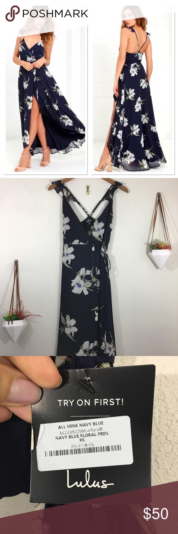 Nwt Lulu S All Mine Navy Blue Floral Maxi Dress Floral Blue Dress Blue Floral Maxi Dress Floral Maxi Dress [ 1740 x 580 Pixel ]