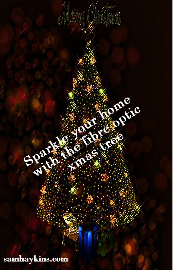 add color and sparkle to your homes using the fibre optic christmas treesbreak the tradition of using the conventional trees