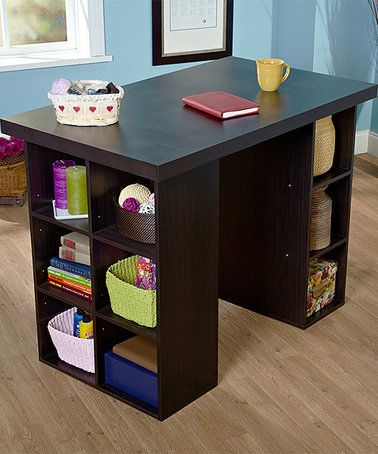 Another Great Find On Zulily Espresso Counter Height Craft Table Zulilyfinds Craft Tables With Storage Craft Table Craft Desk