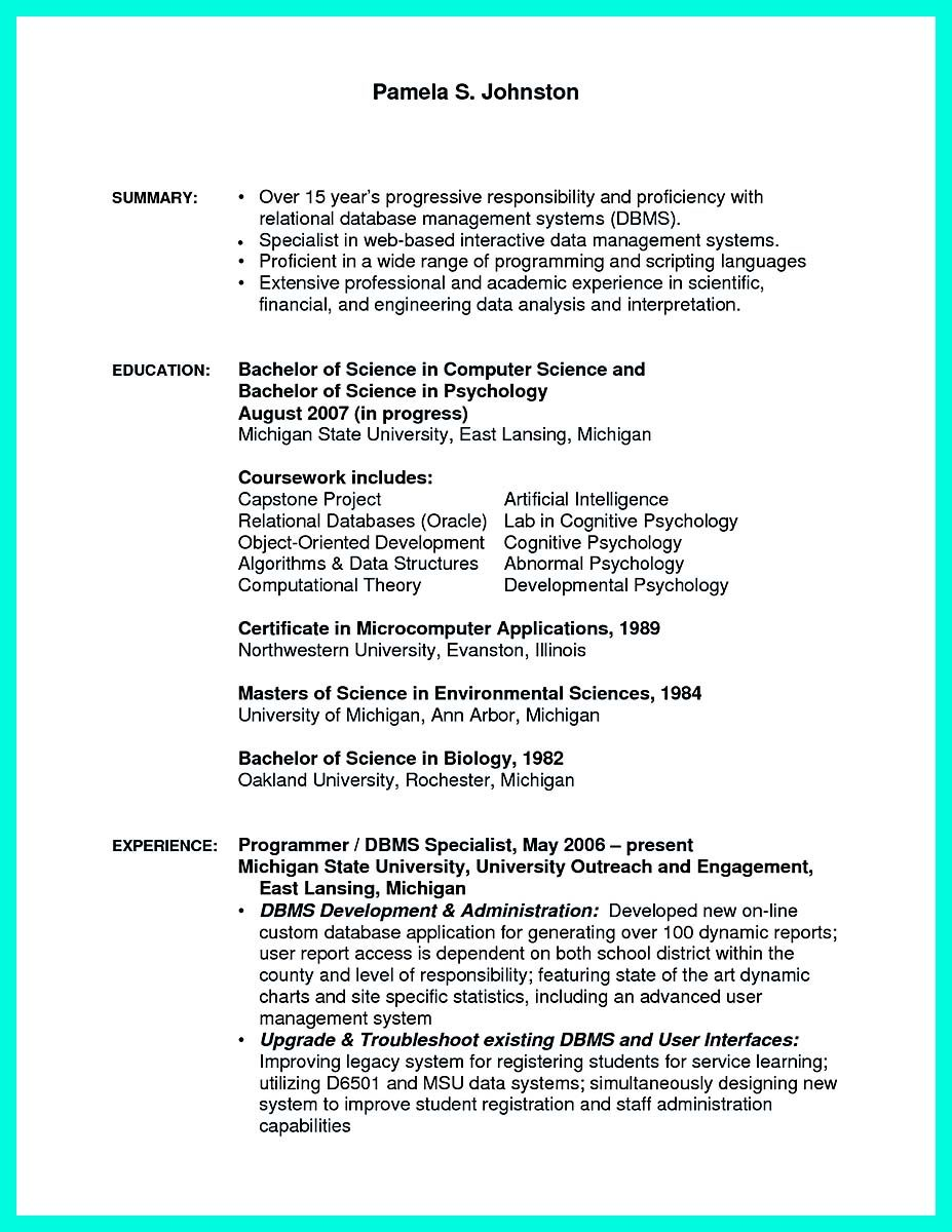 nice Computer Programmer Resume Examples to Impress Employers, Check ...