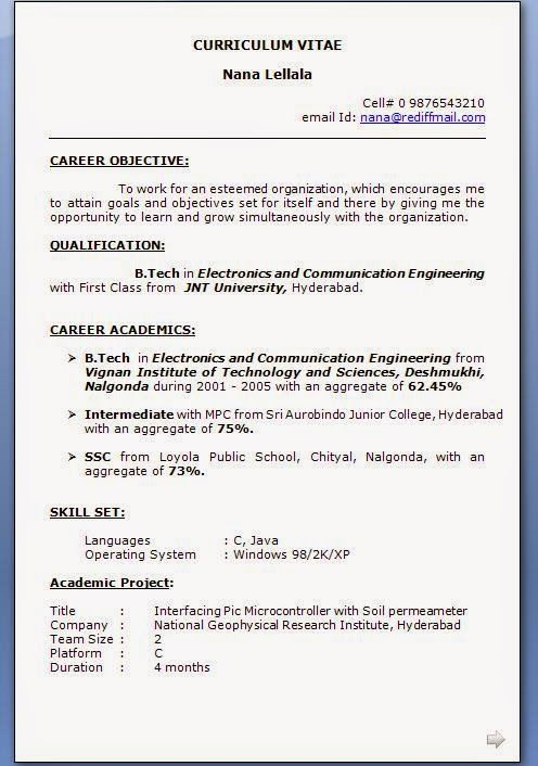 how to write resume title Sample Template Example of ExcellentCV