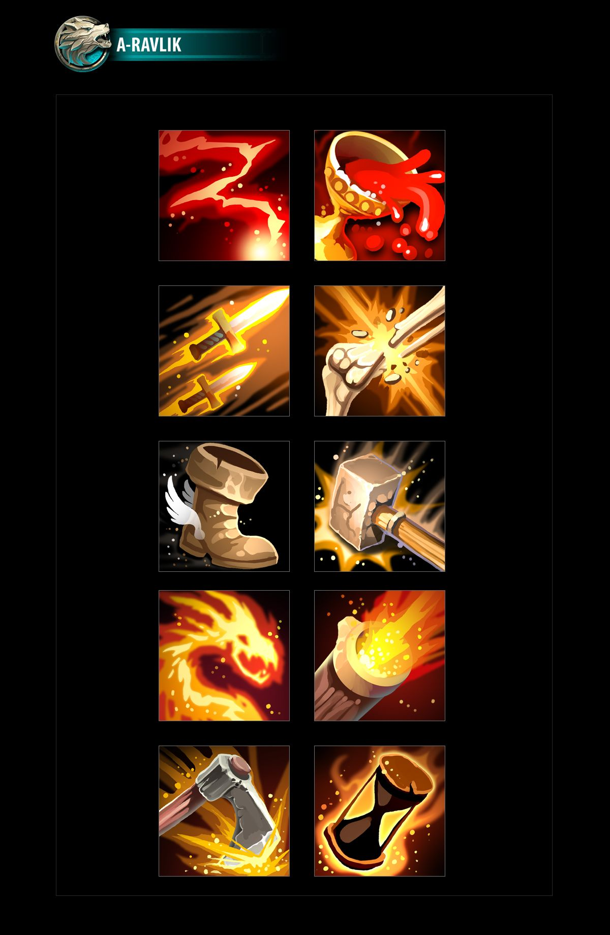 RPG Skills Icons 05 in 2020 Multi media art projects