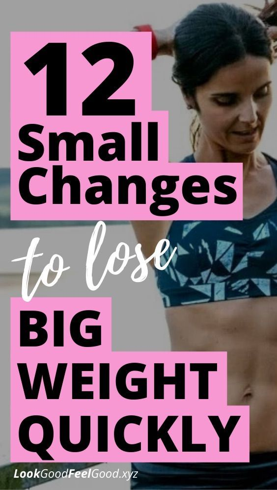 12 small changes to lose big weight quickly | lose 20 pounds in 2 weeks | lose weight in a month | l...
