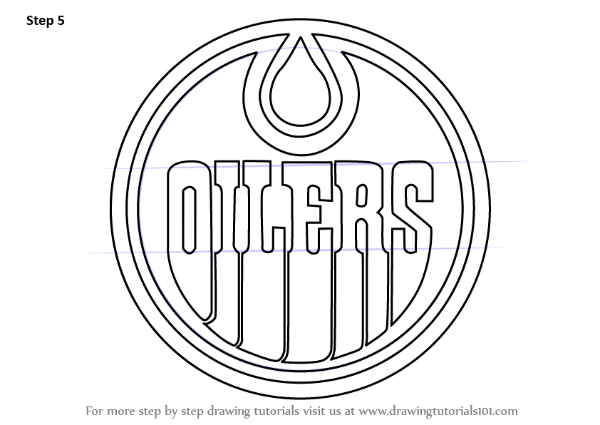 How To Draw Edmonton Oilers Logo Drawingtutorials101 Com Graduation Signs Edmonton Oilers Oilers