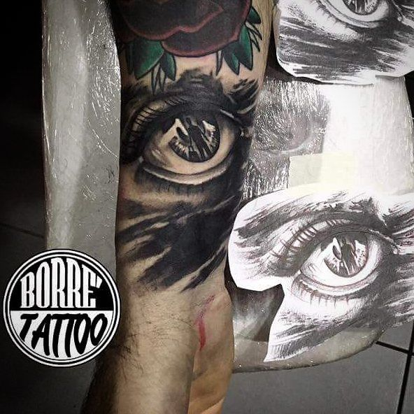 Fabio Borrelli tattoo sketch draw chicano occhio, darkness, portrait Napoli realistico