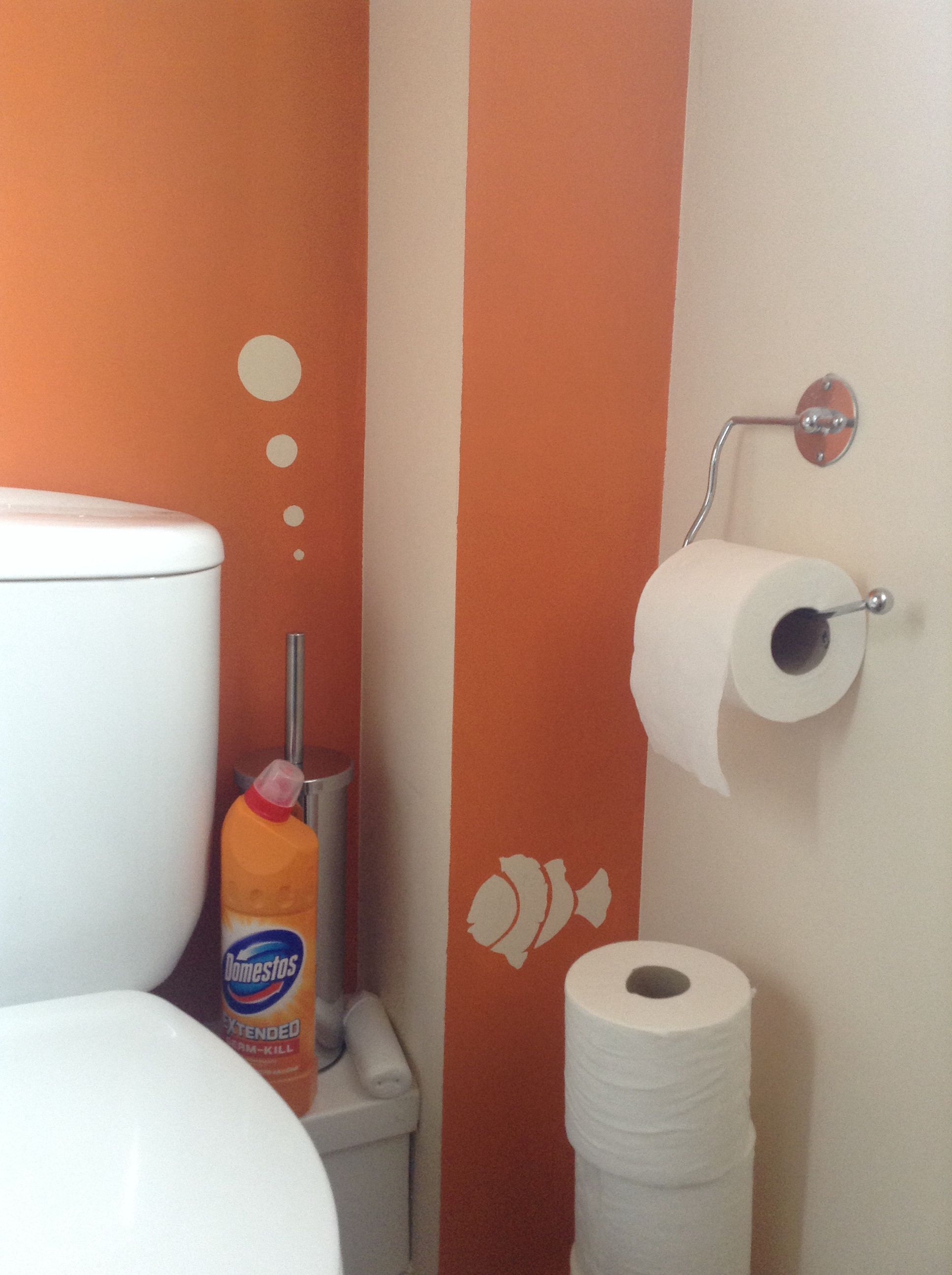 Orange Kitchens Bathroom Project Complete Seville Orange Crown Matt Emulsion