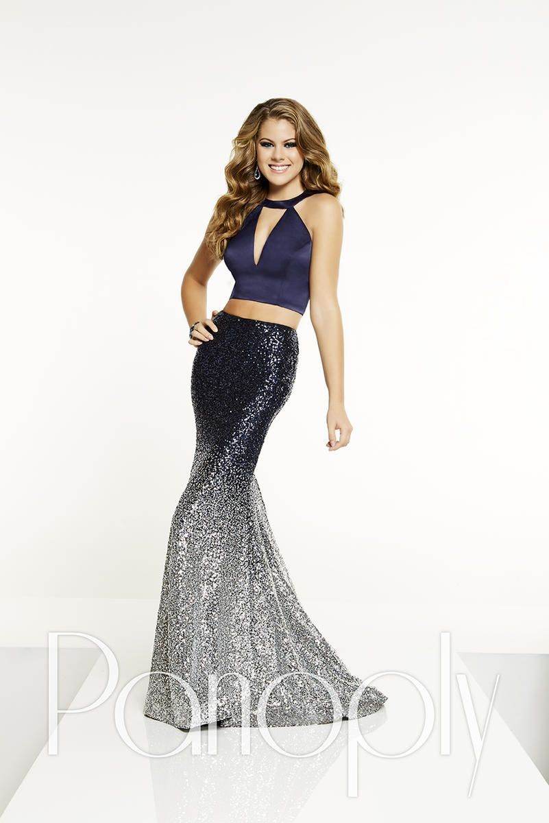 Panoply ombre sequin piece prom dress dress pinterest