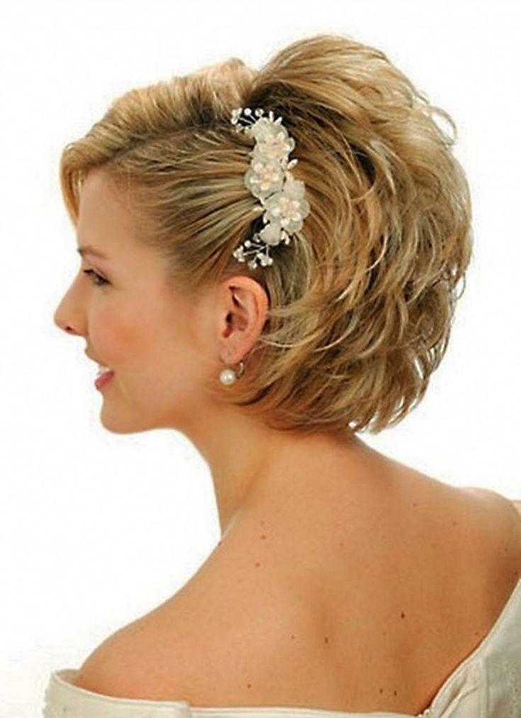 coiffures de mariage pour les cheveux courts - fave