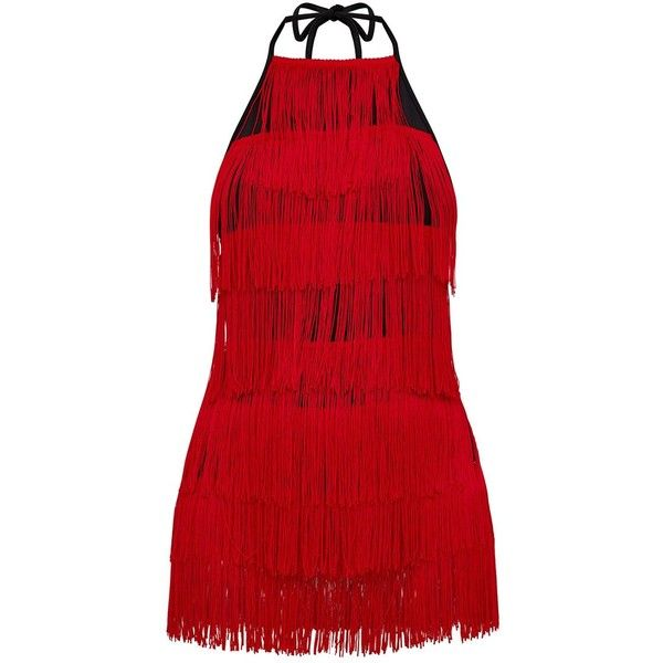 062ba6a0d591 Red Tassel Playsuit ( 1.29) ❤ liked on Polyvore featuring jumpsuits ...