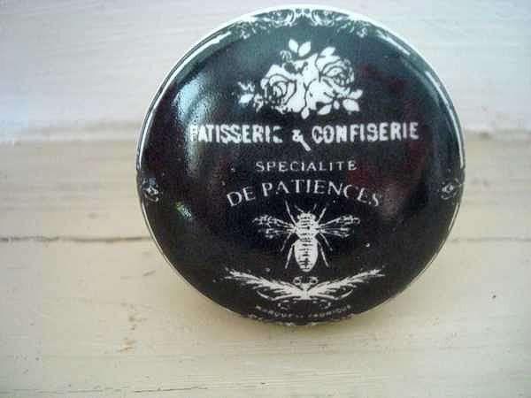 Bouton De Meuble En Porcelaine Orne D Une Abeille 5 50 Boutons