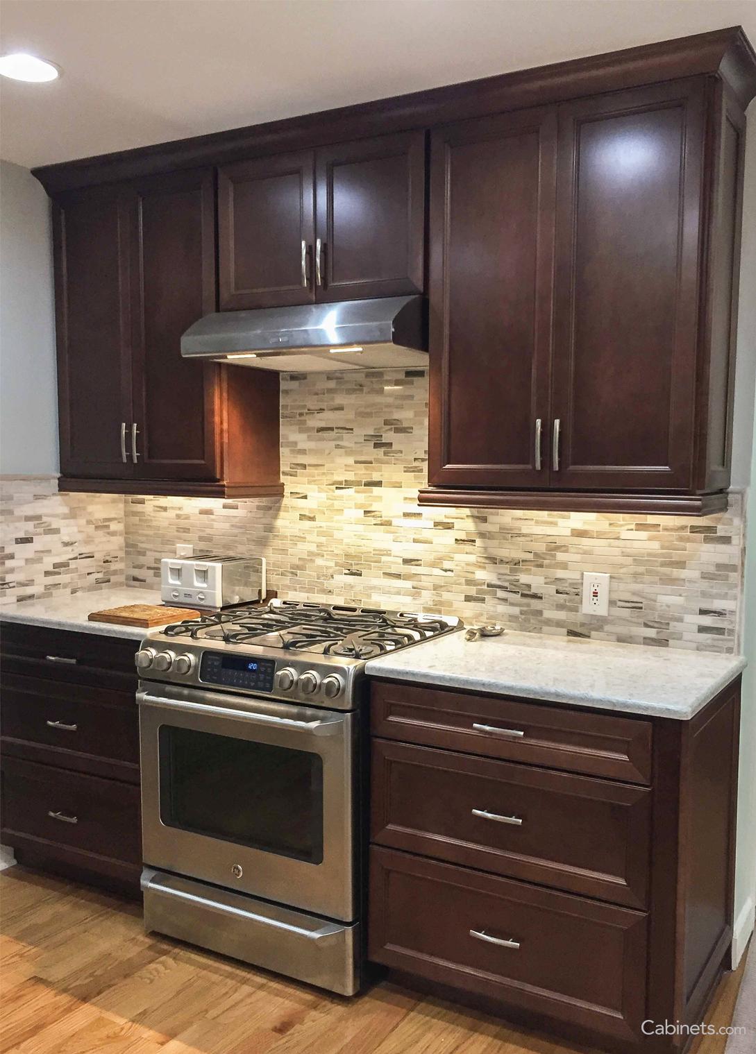 We Love These Dark Cabinets Kitchen Remodel Small Kitchen Backsplash Designs Kitchen Remodel