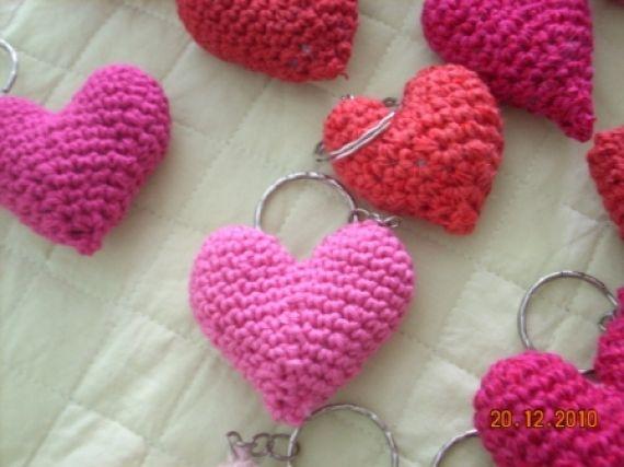 Amigurumi Llavero Corazon : Llavero corazón tejido a crochet llaveros accesorios