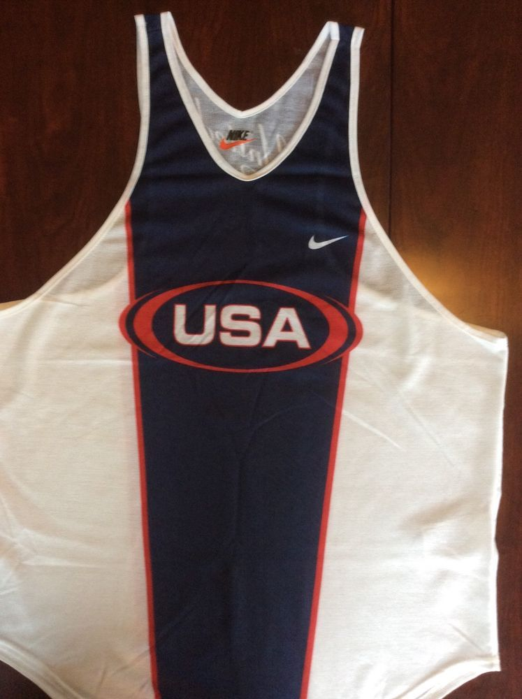 Nike mesh tank red white and blue mens Large 28L 22 W excellent condition   fashion  clothing  shoes  accessories  mensclothing  activewear (ebay link) a06b4f49b