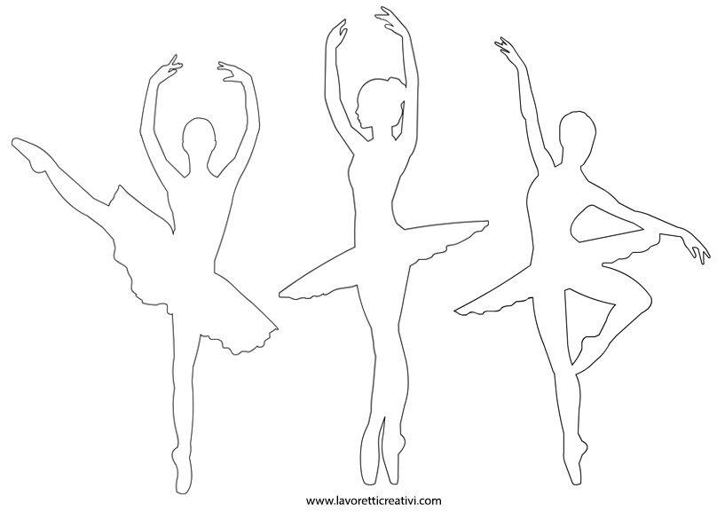 Sagome Ballerine Silhueta De Bailarina Decora 231 227 O