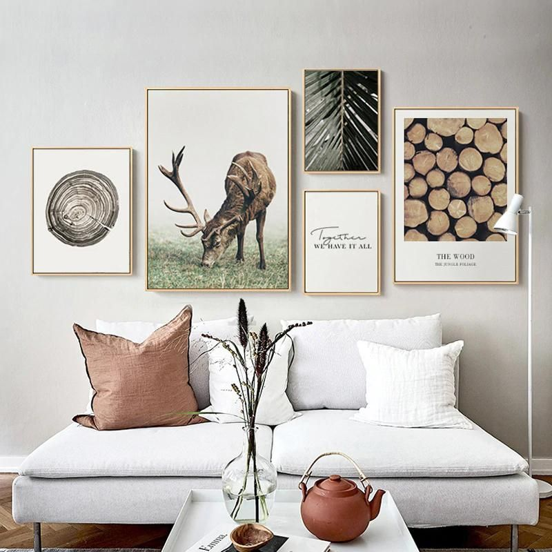 Classic Scandinavian Wall Art Nordic Nature Tree Rings Woodland Canvas Prints Living Room Art Living Room Decor Modern Scandinavian Wall Art #rustic #paintings #for #living #room