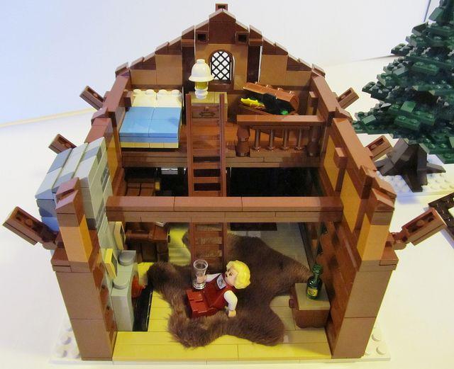 Winter Village Log Cabin by Etzel87, via Flickr