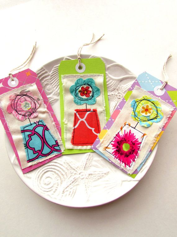 Gift tags Hang tags Scrapbook embellishments Flower by Itsewbella