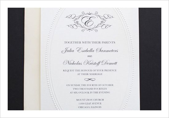 Exceptionnel Elegant Monogram Free Printable Wedding Invitations