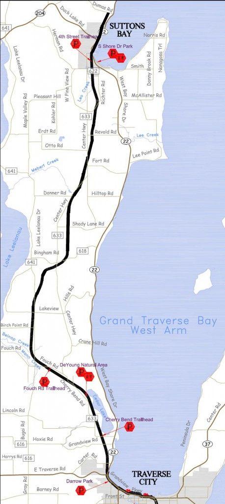 Leelanau Trail Map Leelanau Trail Map Bike Trails Pinterest