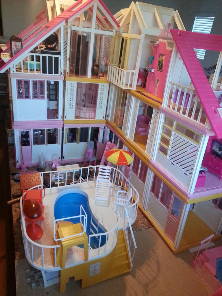 Working On A Vintage Barbie Dream House Redo Work In