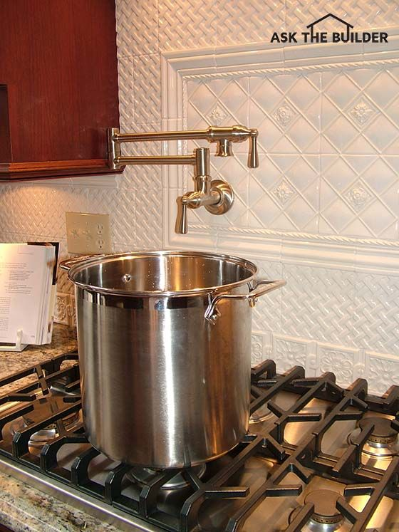 A Pot Filler Faucet Is A Wonderful Addition To Your Kitchen Cooktop