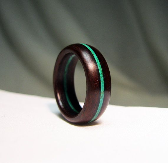 Wooden Ring - Custom Stained Wood Stripe #stainedwood