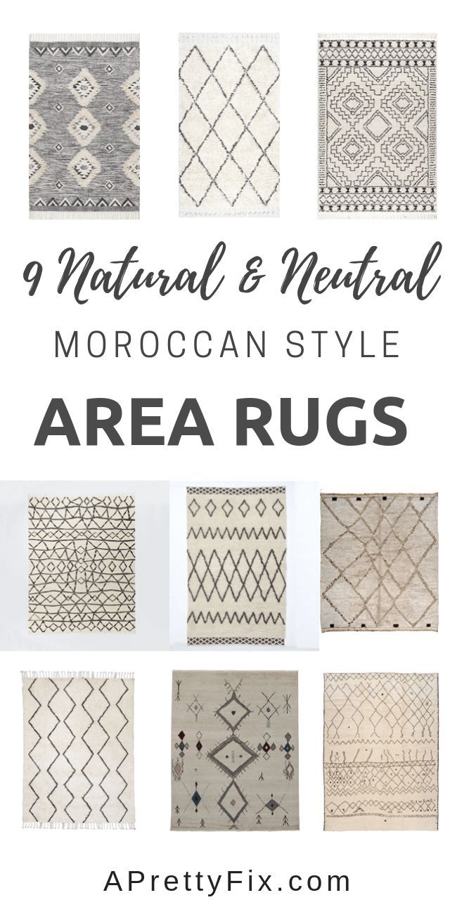 9 Neutral Moroccan Style Area Rugs With Vintage Ap