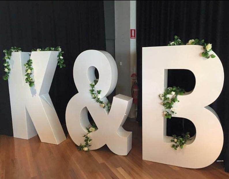 tall by 24 inches wide with a 2 inch thickness 3 ft Large wedding bride and groom foam letter initials letter signs 36 inches 2 ft