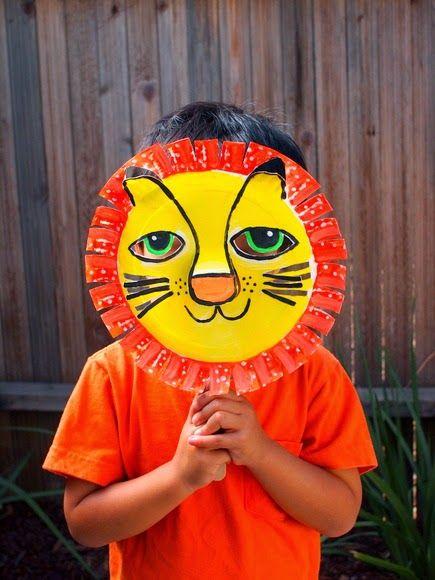 3D paper plate lion mask! & 3D Paper Plate Lion Mask | Lion mask 3d paper and Lions