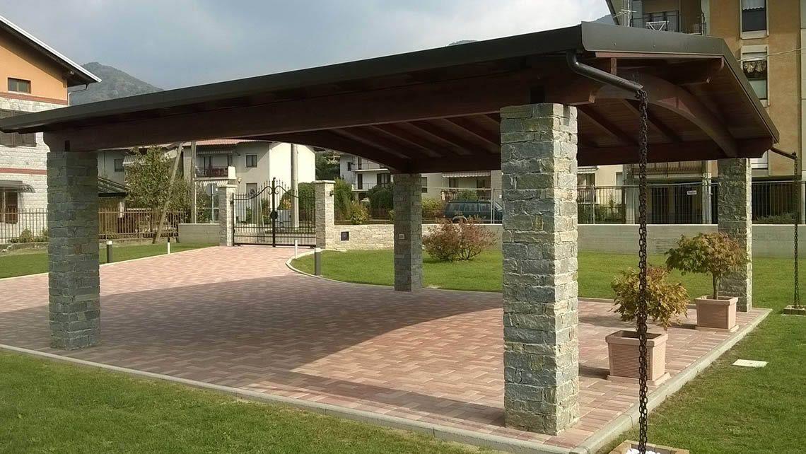 Wooden carport CARPORT Proverbio Outdoor Design