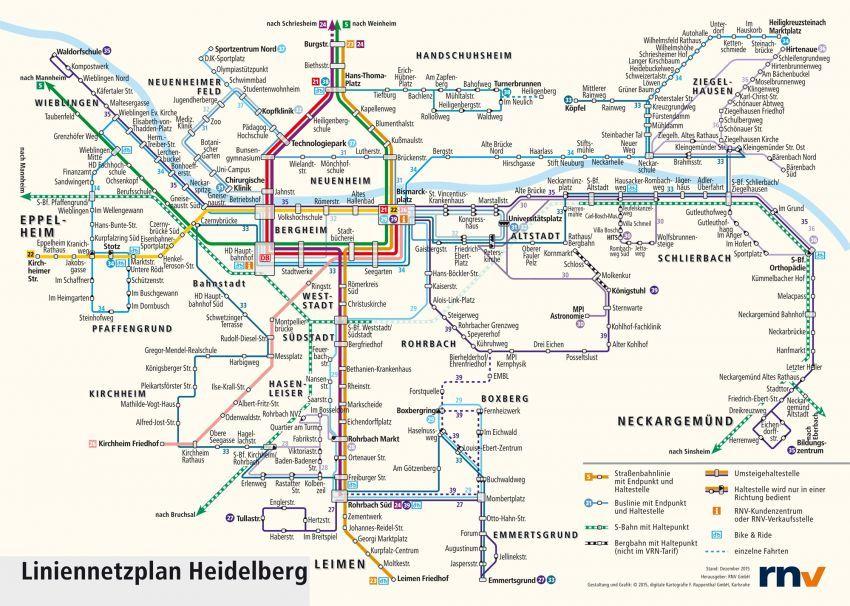 heidelberg germany transportation map