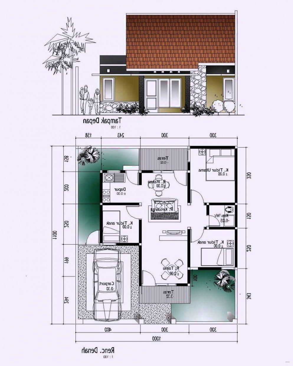 Desain Rumah 8x20 Rumah Minimalis Desain Rumah Rumah