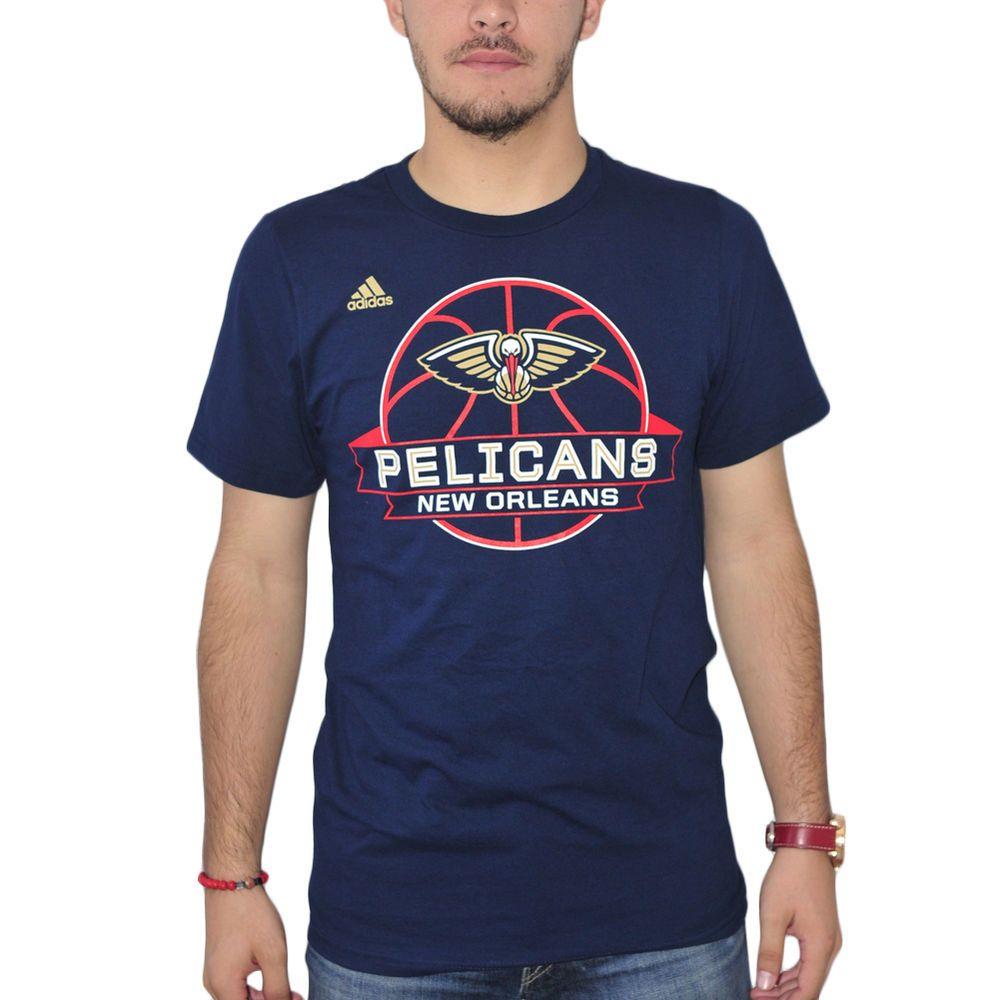 a2886e24 Adidas NBA New Orleans Pelicans Logo Men's Blue T-shirt NEW Sizes S-XL  #NewOrleansPelicans #Tshirt