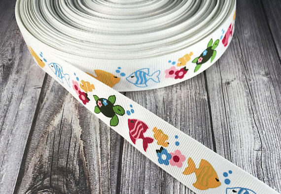 """Splash of Colors 3/"""" grosgrain ribbon the listing is for 2 yards"""