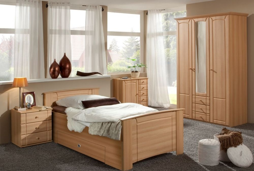 POLLY komplett Schlafzimmer II Bergbuche Wohn design