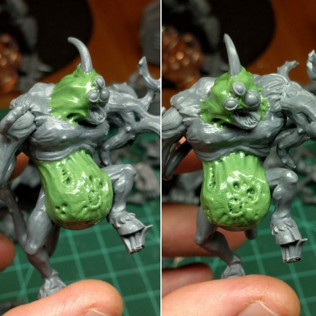Getting around to another #bloodbowl heavy commission this ...