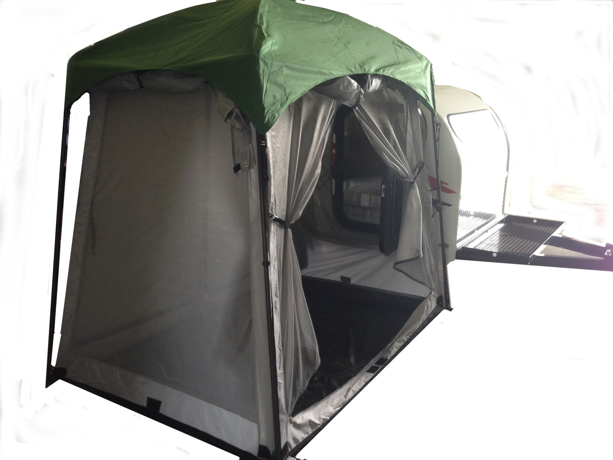 5x7 mini side mount screen room tent teardrop trailer for Small 2 room tent