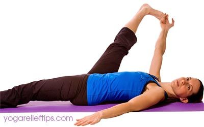 yoga poses pictures  instructions reclining big toe pose