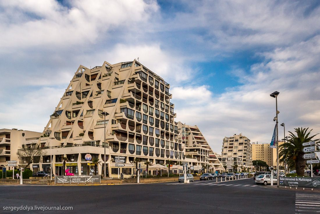 Location Is La Grande Motte Which Is A Resort Area In Southern France Architecture France Building