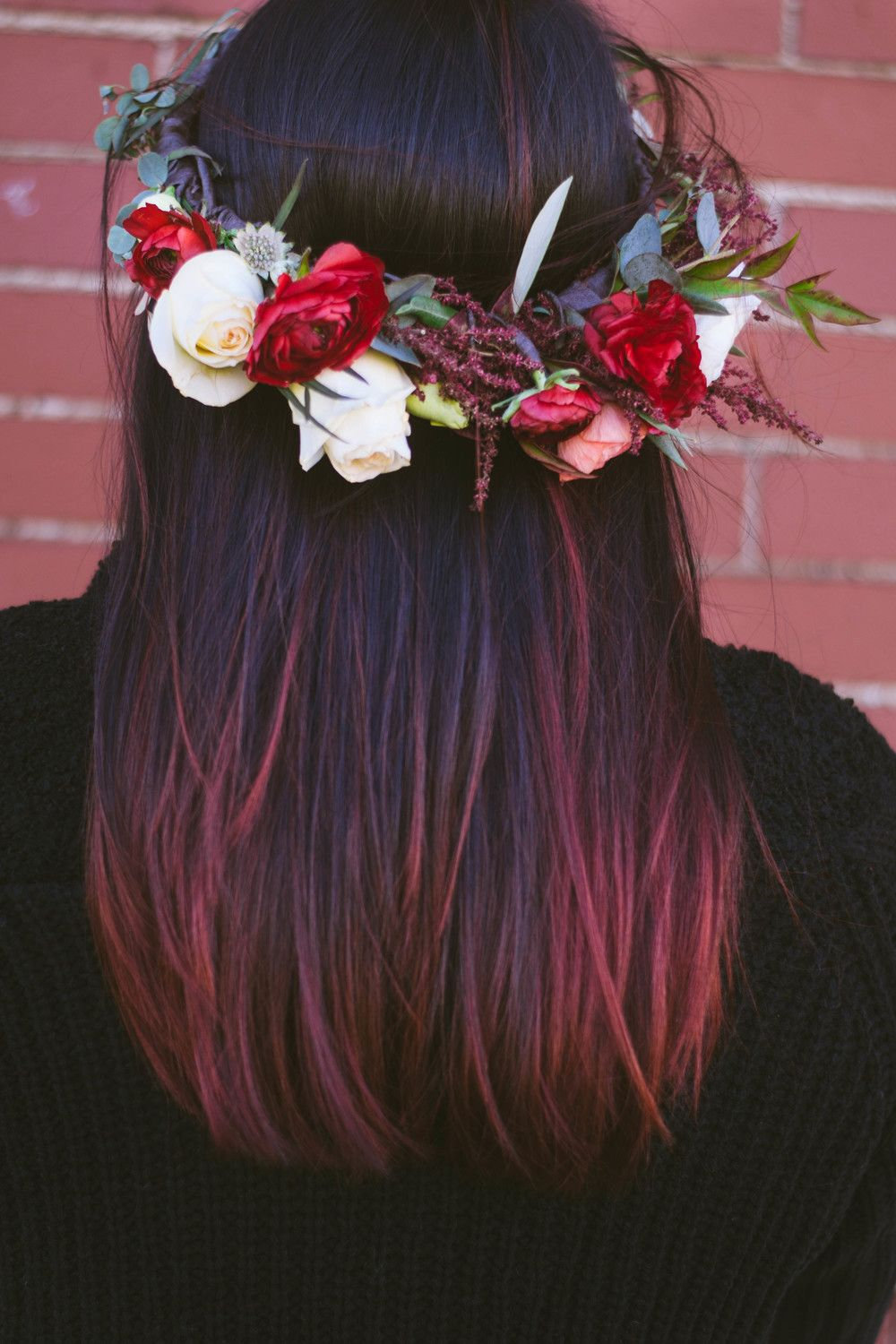 Red And White Flower Crown Flower Pinterest Flower Crowns And