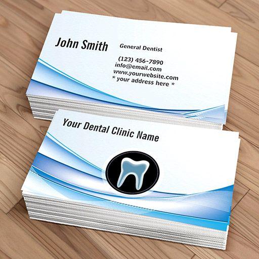 Dental Care Modern Blue Curve Dentist Business Card Zazzle Com Dental Business Cards Dental Business Business Cards Online